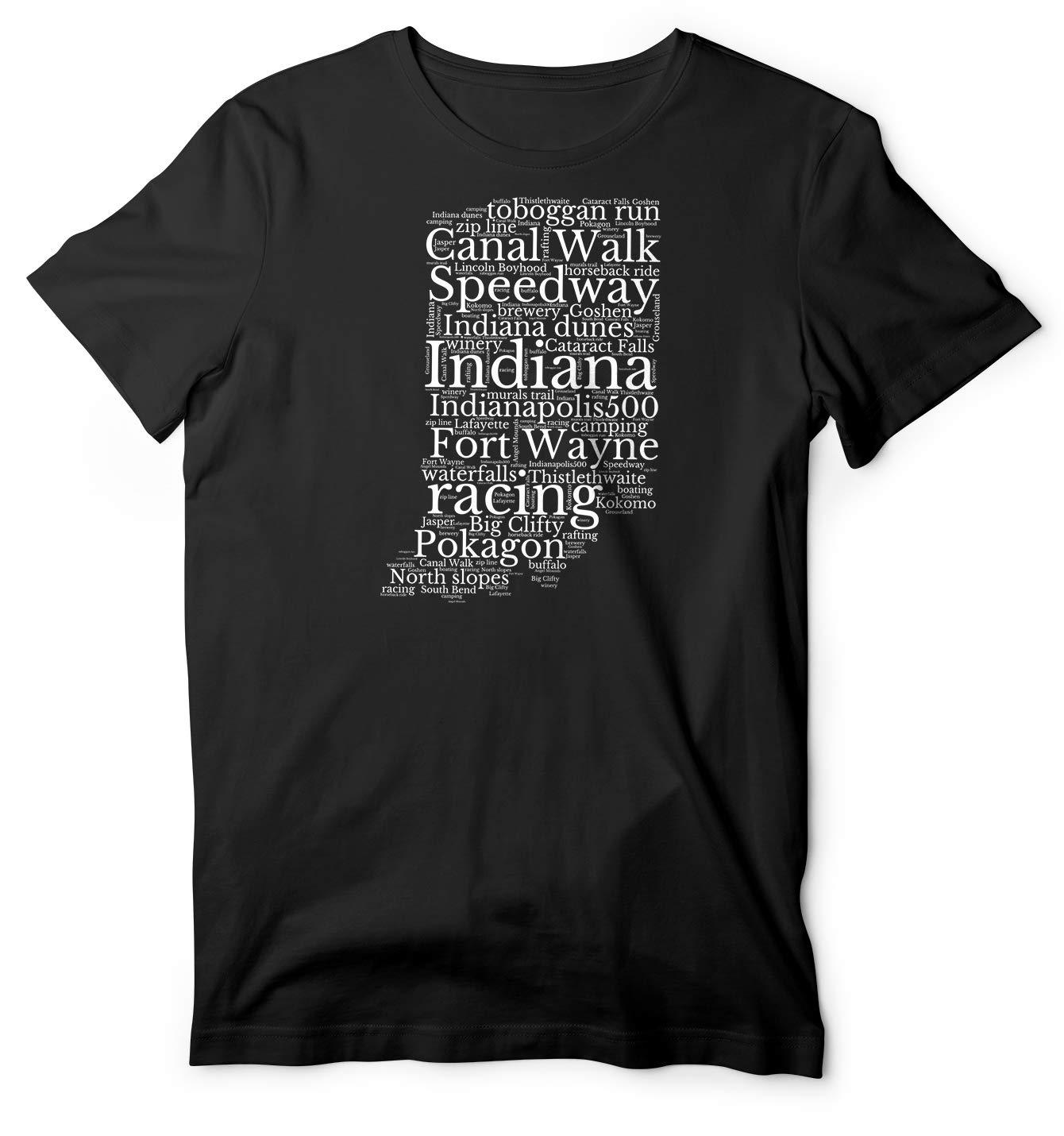 Indiana Pride Word Art Gift State Pride Baseball Football Shirts