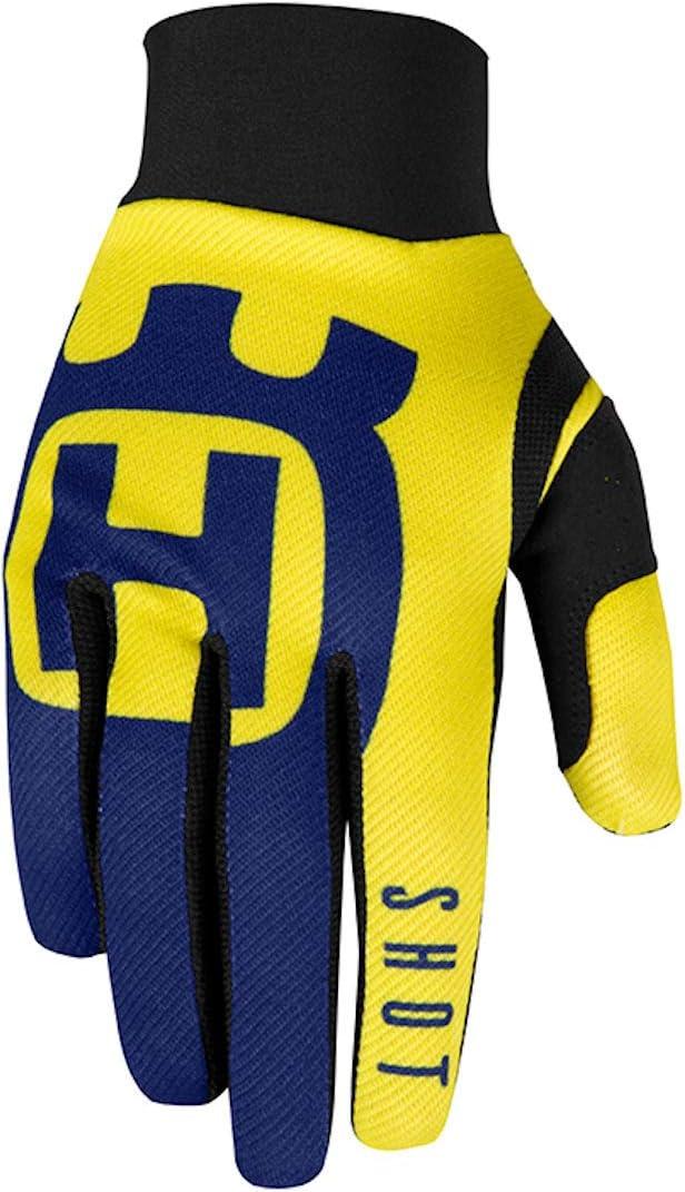 Blau//Gelb, Gr/ö/ße 8 Shot Erwachsene Husqvarna Handschuhe