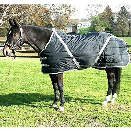 High Spirit Snuggie Stable Blanket, 72-Inch, Black/Silver