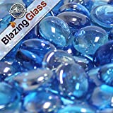 Limited Edition 10-Pound Fire Glass Beads (Ice Blue Luster) For Sale