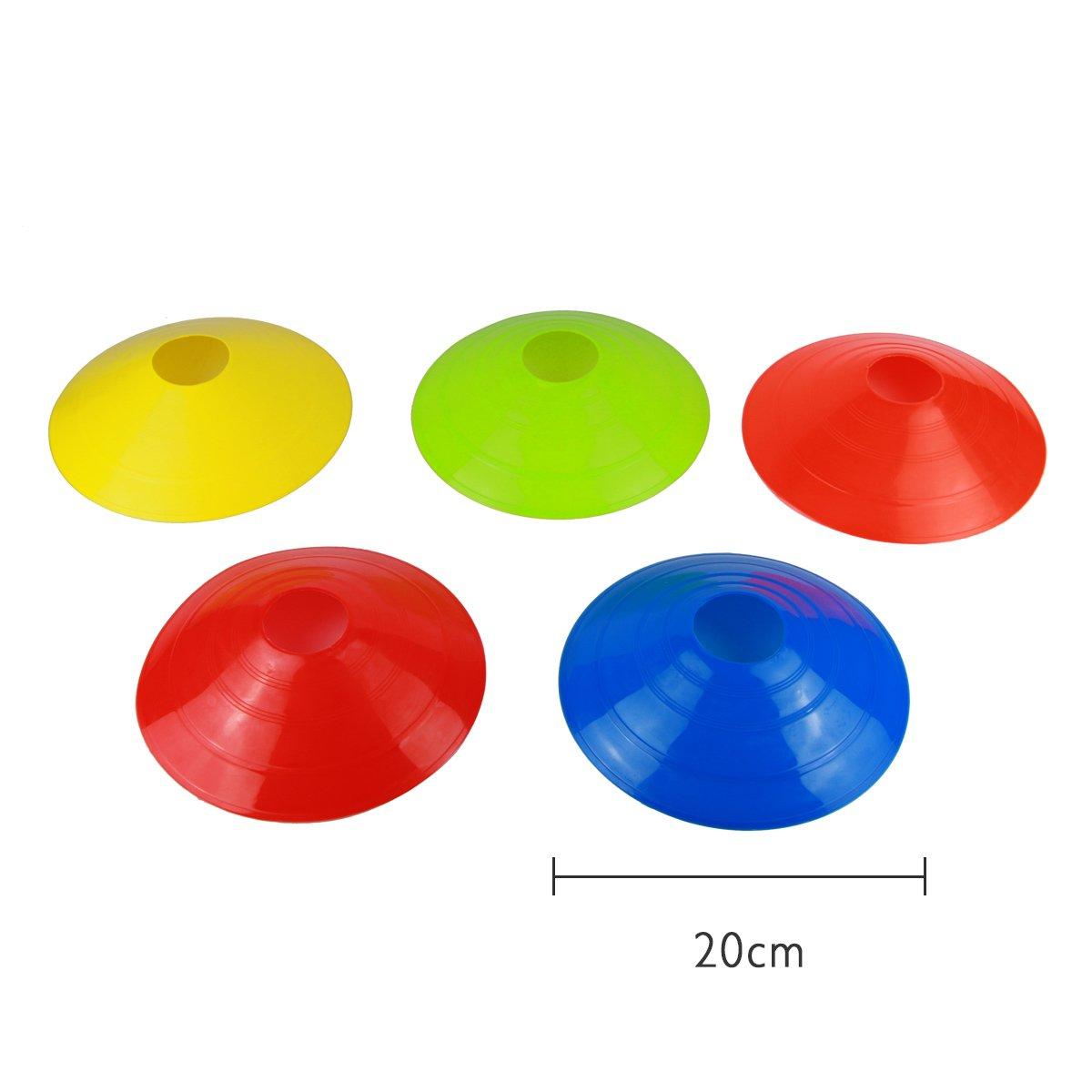 EASE 10/pcs Soccer Ball Espace marqueurs C/ônes de sport Running Football Rugby Fitness lagilit/é dentra/înement