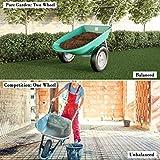 Pure Garden 50-LG1079 2-Wheeled Garden Wheelbarrow