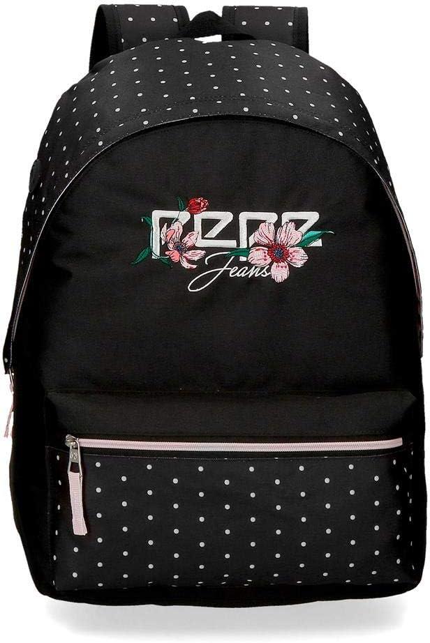 Pepe Jeans LondonArmade BackpackNiñasCarterasNegro (Black)13x30x37 centimeters (W x H x L)