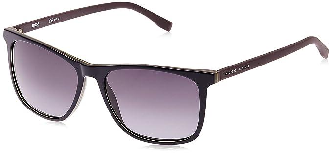 Amazon.com: Hugo Boss anteojos de sol 0760 en azul, talla ...