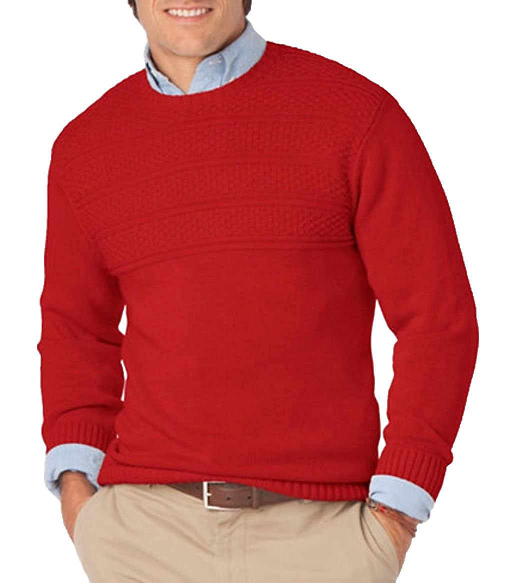 eb68380e7 Chaps by Ralph Lauren Men s Big Sky Crew Neck Sweater Red at Amazon Men s  Clothing store