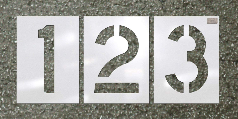 CH Hanson 12 Piece Number Kit - Pavement Stencil - Font Size 4'' X 2.75''