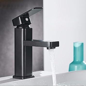 WAWZJ Basin Sink Mixer Tap Waschtischarmaturen Matt   Schwarzen Matte  Schwarze Kupfer Wasserhahn Mit Schwarzer