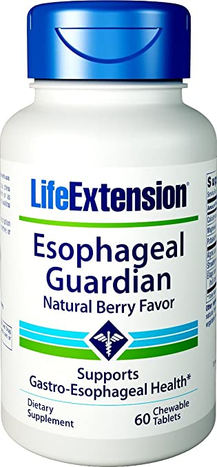 Life Extension Esophageal Guardian (Berry Flavor) 60 Chewable Tablets