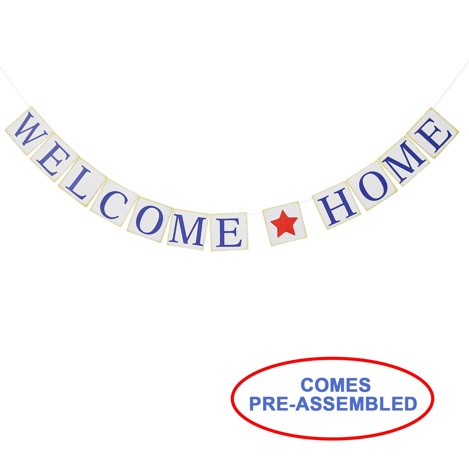 Welcome Home Banner Sign - Housewarming Banner - Patriotic Military Homecoming Banner- Welcome Home Party Decoration