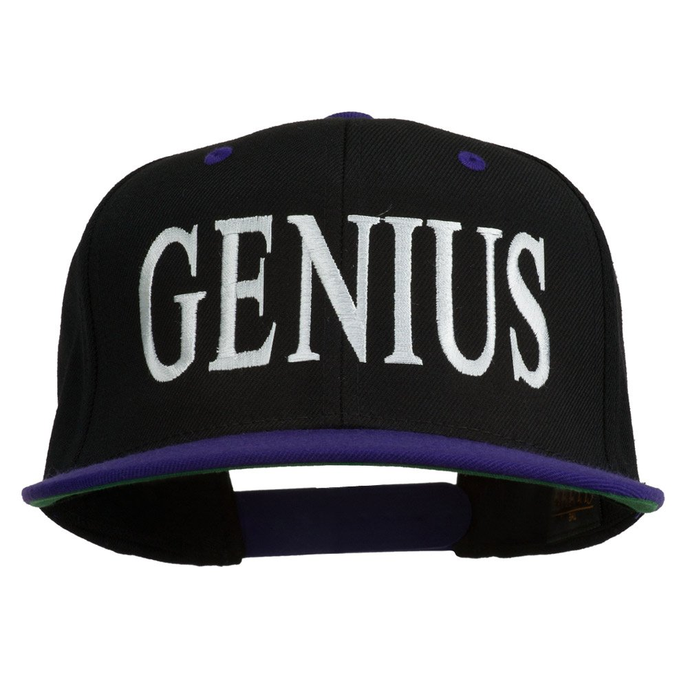 Genius Embroidered Two Toned Snapback Cap
