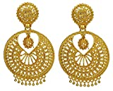 Matra 18K Goldplated Traditional Party Wear Drop Dangle Earring Set Bollywood Jewelry