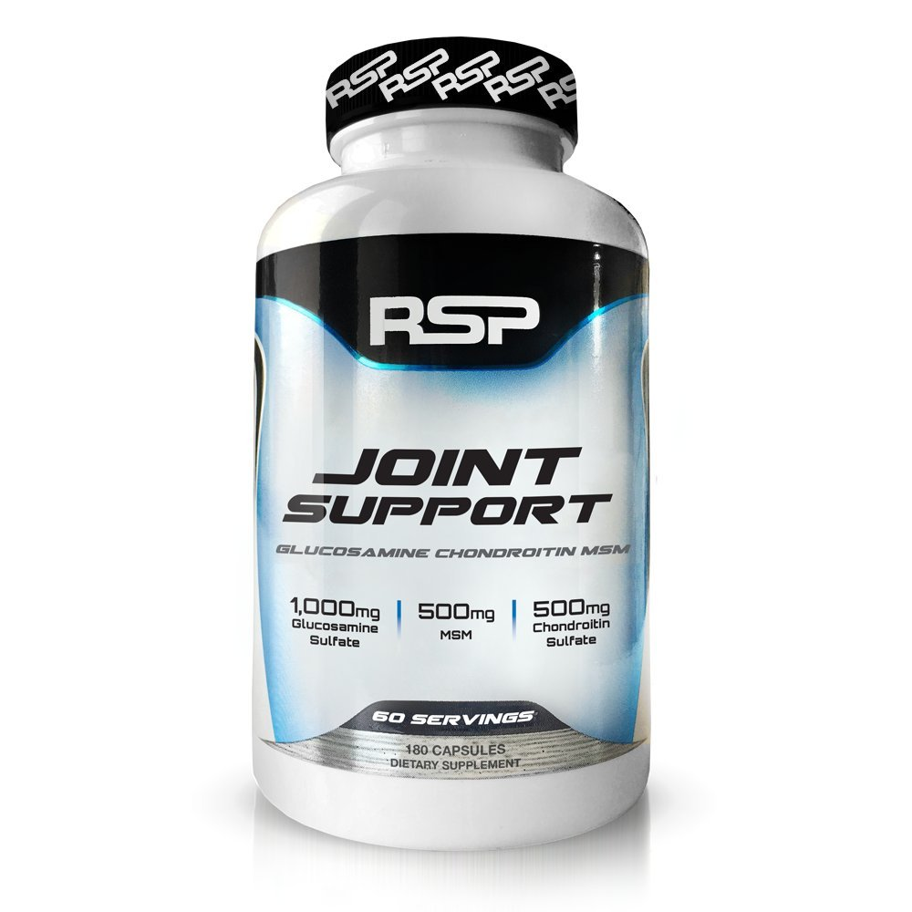 RSP Joint Support – Complete Joint Support Supplement,Anti-Inflammatory & Antioxidant,Glucosamine,Chondroitin,& MSM,Supports Joint Strength & Flexibility for Men & Women,180 Capsules (2-Month Supply)