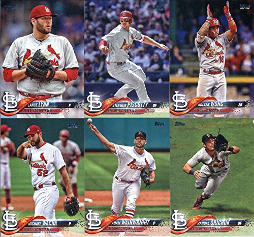 2018 Topps Complete (Series 1, 2, Update) St. Louis Cardinals Team Set of 35 Cards: Harrison Bader(#21), Dexter Fowler(#33), Michael Wacha(#51), Aledmys Diaz(#67), Adam Wainwright(#81), Jack Flaherty(#93), Lance Lynn(#134), Randal Grichuk(#147), Stephen Pi