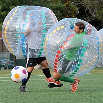 zzcj burbuja balón de fútbol multicolor diámetro 5 (1,5 m ...