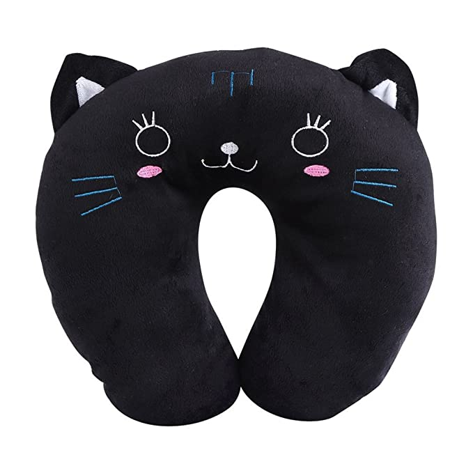Amazon.com: BOYANN Cute Animals Travel Pillows Soft Orthopaedic Neck Support Cushion for Airplane Car Reading, Cat: Home & Kitchen