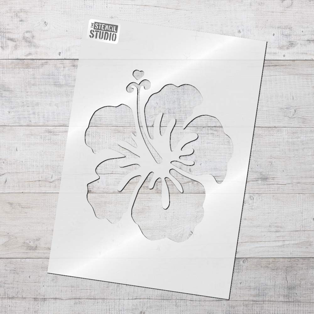 The stencil studio hibiscus flower stencil multi pack 3 x the stencil studio hibiscus flower stencil multi pack 3 x stencils small a4 medium a3 large a2 10091set amazon kitchen home izmirmasajfo