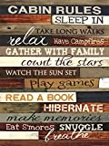Cabin Rules Poster Print by Marla Rae (18 x 24)