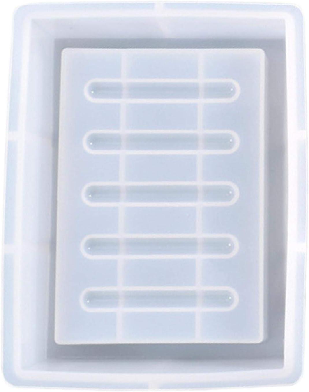 Translucide Hamaio Moulle Silicone Resine Epoxy pour Resine Moule en R/ésine pour Plateau De Bricolage Porte-Savon en Silicone Artisanat Faire DIY 13,2 X 10,2 X 3,2 cm
