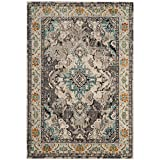 Safavieh Monaco Collection MNC243G Vintage Oriental Grey and Light Blue Distressed Area Rug (2'2″ x 4′)