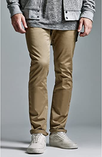 BULLHEAD Denim co. Para hombre Solid Skinny Chino pantalones ...