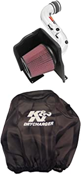 K/&N 77-3086KTK Performance Air Intake System with Red Air Filter Wrap