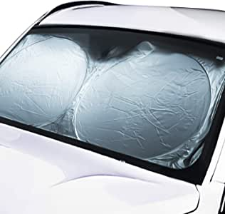 JSAuto Parasoles de Coche para Ventanas Frontales, Cortinas para autos - Reflector UV bloque (1 Pcs)