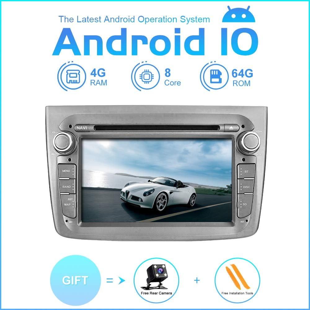 Zltoopai Auto Multimedia Player Für Alfa Romeo Mito Ab 2008 Android 10 Octa Core 4g Ram 64g Rom Ips Single Din Autoradio Audio Stereo Gps Navigation Navigation