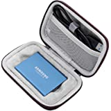 New Carrying Case Compatible with Samsung T1 T3 T5 Portable 250GB 500GB 1TB 2TB SSD USB 3.1 External Solid State Drives Storage Travel Bag