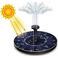 CIM Fuente Solar, 1.4W Fuente Solar Jardin con 6 boquillas, Ideal para Pequeño Estanque, Baño de Aves, Fish Tank, Decoración del Jardín