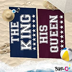 Babloo Coppia di Teli Mare Love You And Me The King His Queen -80x180- 7 spesavip