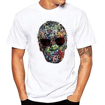 a36b05ca04 JJZHY Camiseta con Estampado de Patrones de Stan Lee Marvel Hero Fashion  Cotton T-Shirt  Amazon.es  Deportes y aire libre