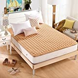 KELE Bedroom Mattress Tatami Mat Bed Pad Grinding Fabric Fold-able Anti-skidding Thin Section Individual Double For Livingroom Student Dormitory Tents-White 180x200cm(71x79inch)