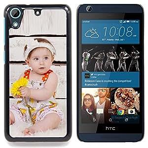 """For HTC Desire 626 Case , Niña Sepia Mother Love Inspiring"""" - Diseño Patrón Teléfono Caso Cubierta Case Bumper Duro Protección Case Cover Funda"""