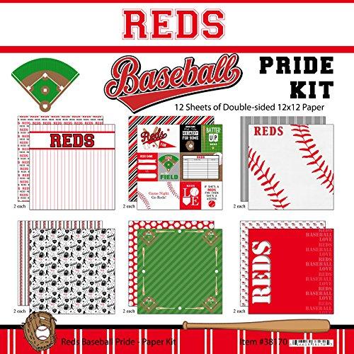 Cincinnati Reds Memory (Scrapbook Customs Reds Pride Baseball Scrapbook Kit)