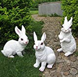 J-Beauty Outdoor White Rabbit Statue Garden Decor (Set of 3) Review