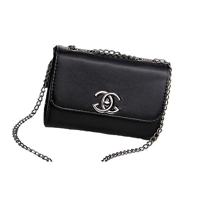 ff5cc34c6a SHRJJ Borse Da Donna Borse A Tracolla Borse A Tracolla A Catena Mini Borse  Moda Vintage Borse Lucide 18x8x13cm,Black-OneSize: Amazon.it: Abbigliamento