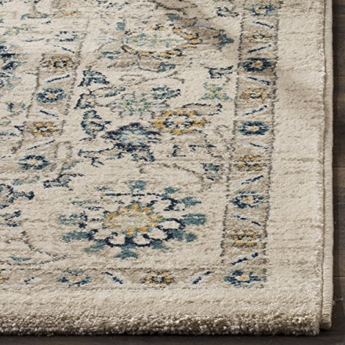 Safavieh Evoke Collection EVK515F Vintage Beige and Turquoise Area Rug (3' x 5')