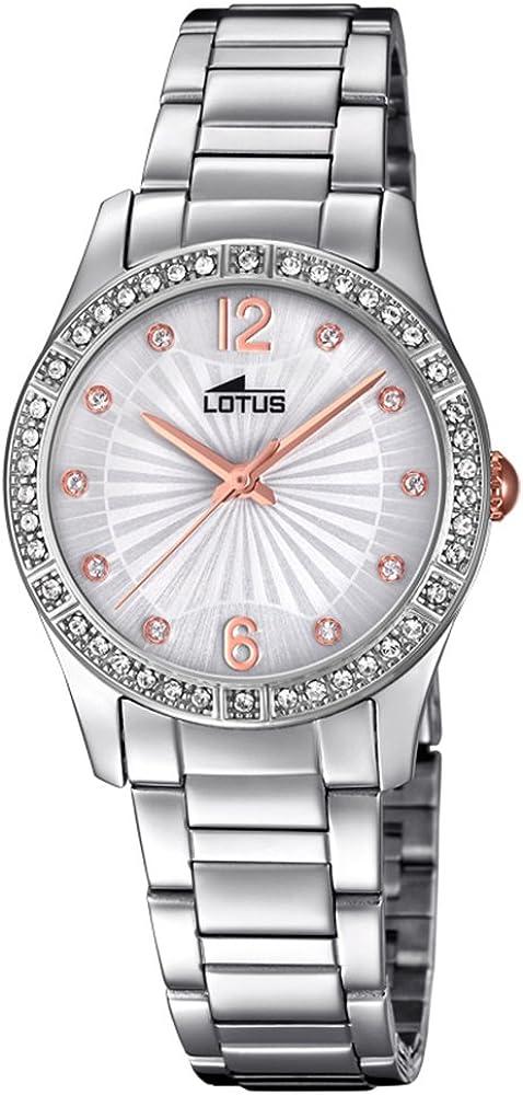 Lotus Reloj Analógico para Mujer de Cuarzo con Correa en Acero Inoxidable 18383/1