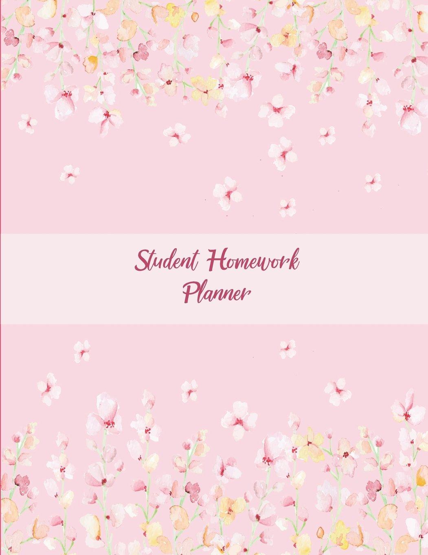 Student Homework Planner: Pink Blossom, Kids Daily Planner ...