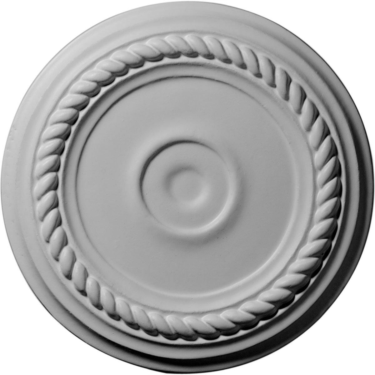 Ekena Millwork CM07AL 7 7 8 Inch OD x 1 1 8 Inch ID x 3 4 Inch Small Alexandria Ceiling Medallion