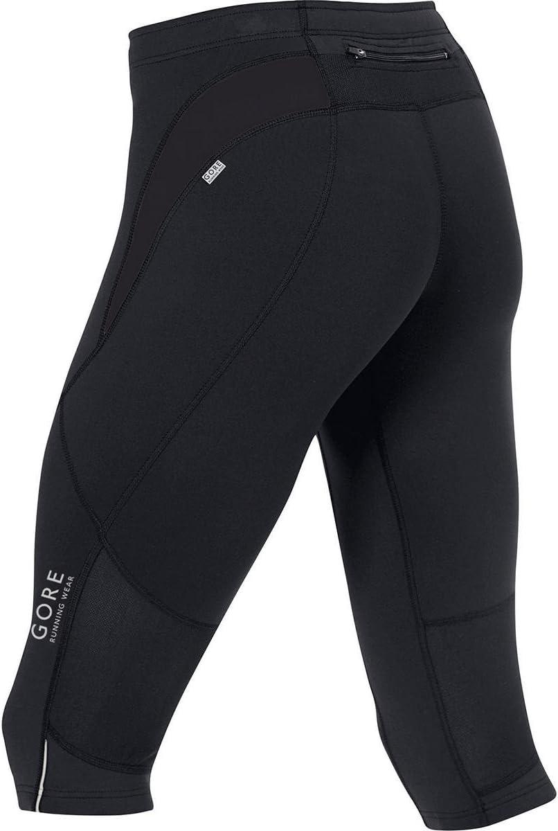 TESSNT Respirant GORE RUNNING WEAR Homme Collant de course fonctionnel jambes 3//4 GORE Selected Fabrics ESSENTIAL 3//4 Taille M Noir