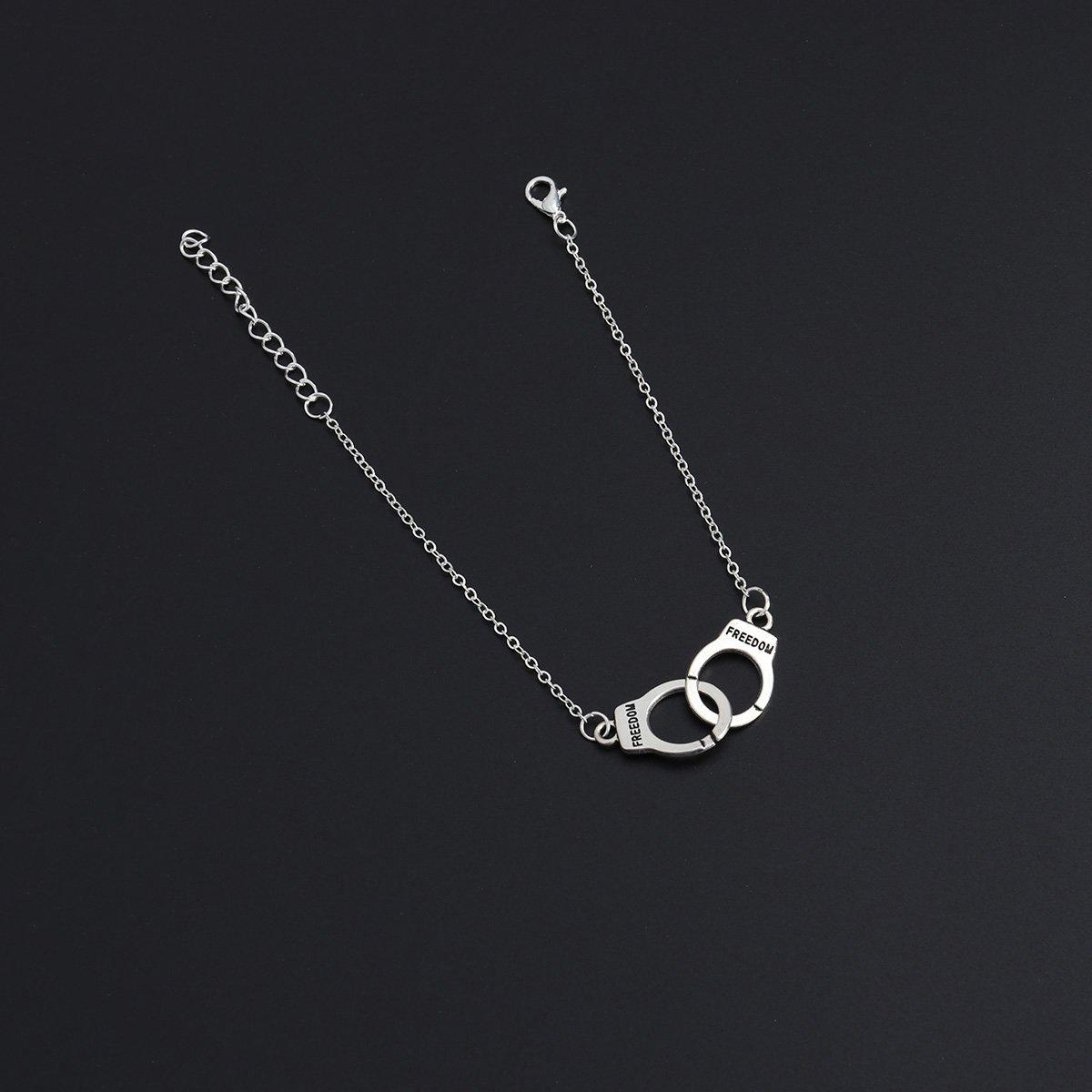 Foot Bracelet Jewelry Anklet Women Girls Ankle Leg Chain Charm Handcuff Bracelet Fashion Beach Jewelry Silver