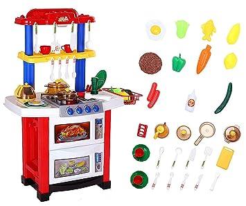 Juguetes De Cocina   Shinehalo 33pcs Juguetes De Cocina Para Ninos62 36 83cm Con Agua