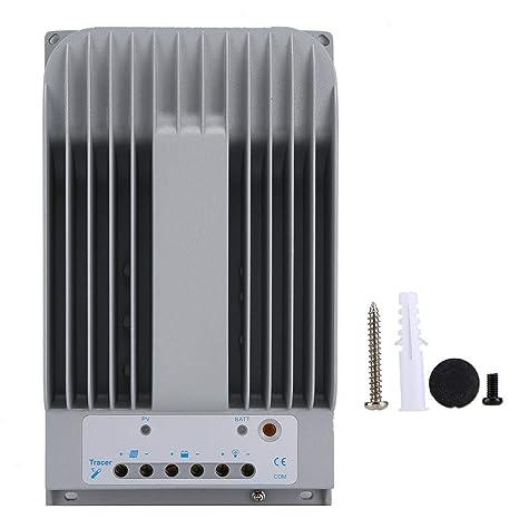 Controlador de carga solar 40A, Controlador solar DC 12V/24V ...