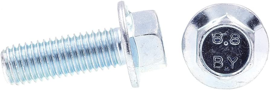 M12-1.75 X 35MM Prime-Line 9089744 Flange Bolts Class 8.8 Metric 25-Pack Zinc Plated Steel