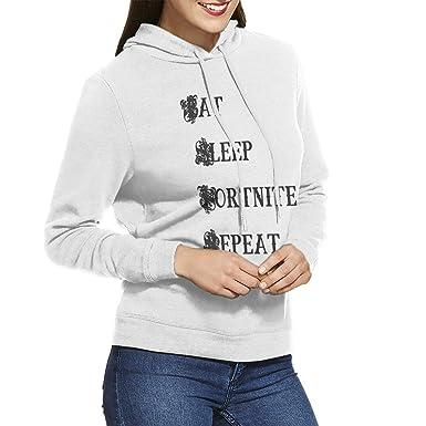 Amazoncom Sara Nell Pullover Hoodie Eat Sleep Fortnite