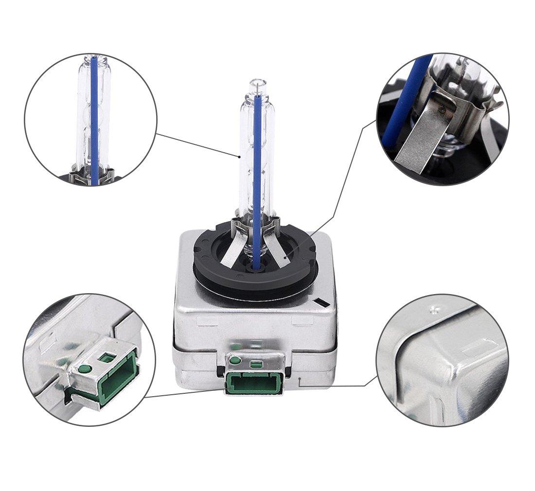 HID D1S//D3S 6000/K auto lampadine allo Xenon 35/W sostituisce lampadine faro 2/pezzi