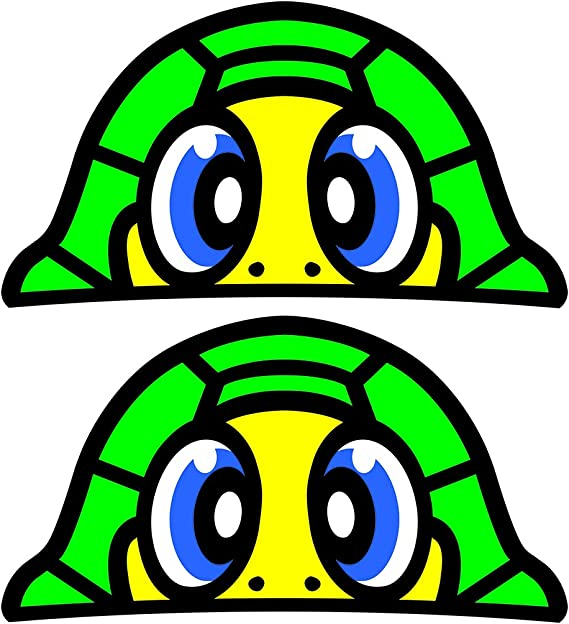 Generic Valentino Rossi Schildkröten Aufkleber 37 X 20 Mm 2 Stück Auto