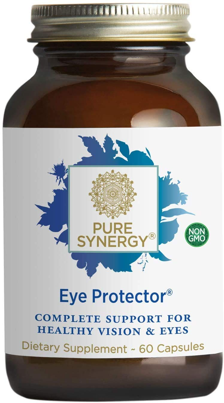 Pure Synergy Eye Protector | 60 Capsules | Non-GMO | Vegan | Eye Vitamins for Eye Health with Natural Lutein, Zeaxanthin, and Astaxanthin