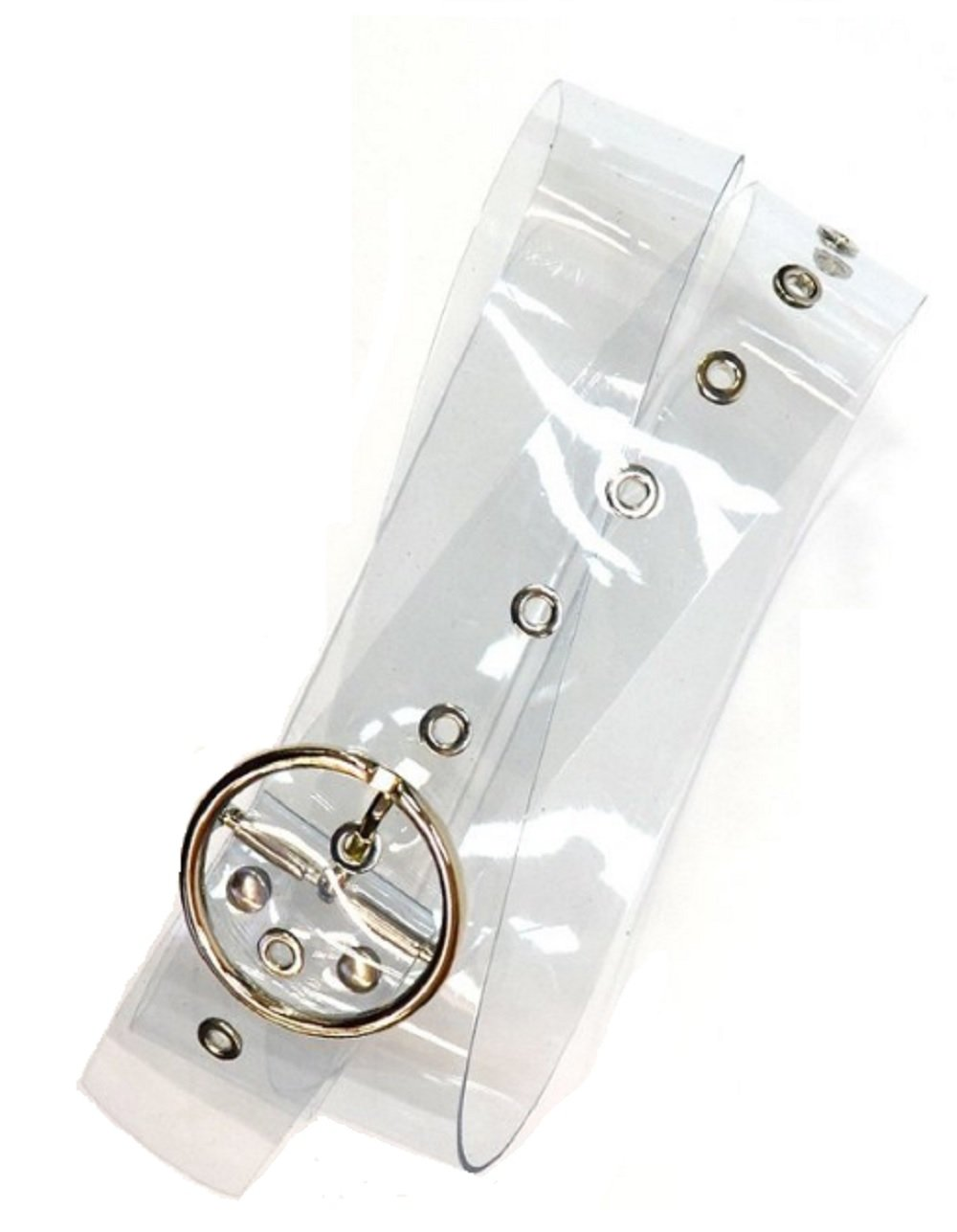 Love My Seamless Womens Ladies Girls Accessories Circle Buckle Clear Jean Belt (Clear)